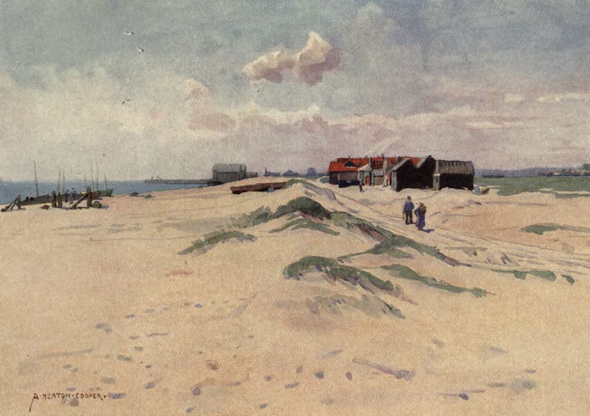 Norfolk and Suffolk Painted and Described - Southwold Beach, Suffolk (1921)