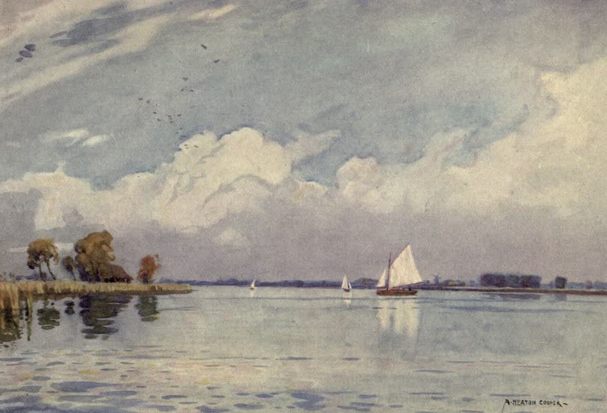 Norfolk and Suffolk Painted and Described - Hickling Broad, Norfolk (1921)