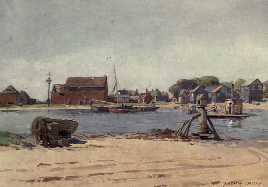 Norfolk and Suffolk Painted and Described - Walberswick Ferry, Suffolk (1921)