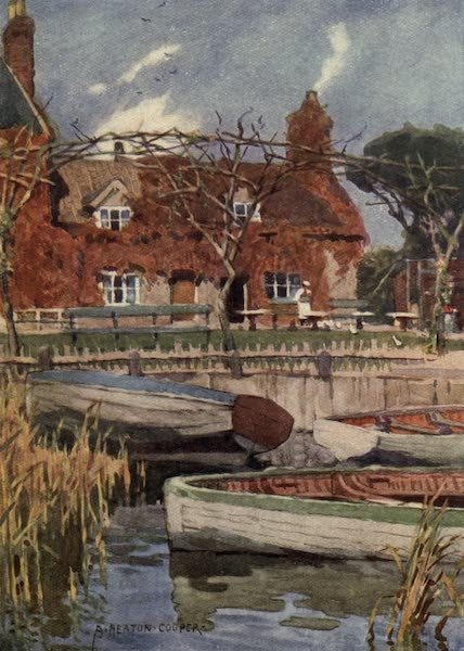 Norfolk and Suffolk Painted and Described - Eel's Foot Inn, Ormesby, Norfolk (1921)