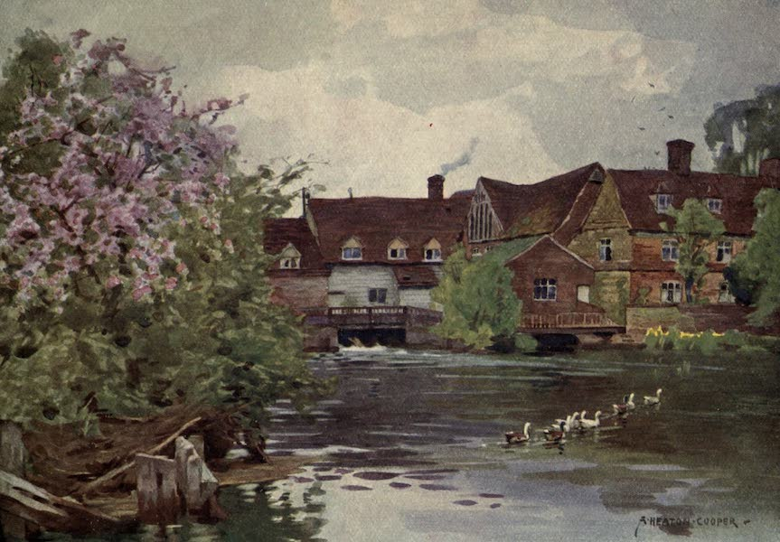 Norfolk and Suffolk Painted and Described - Flatford Mill, East Bergholt, Suffolk (1921)