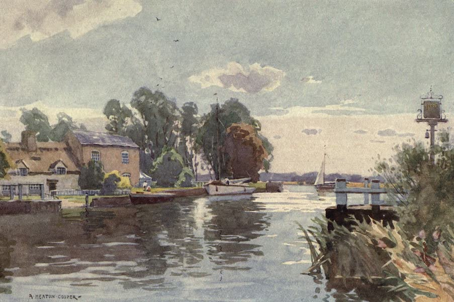 Norfolk and Suffolk Painted and Described - Horning Ferry, on the Bure, Norfolk (1921)