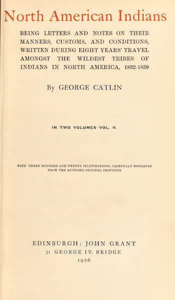 North American Indians Vol. 2 - Title Page (1926)