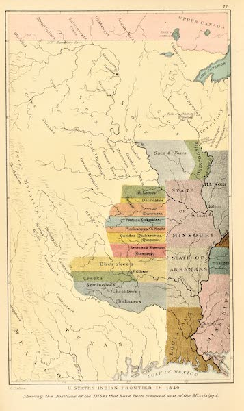 North American Indians Vol. 2 - United States Indian Frontier in 1840 (1926)