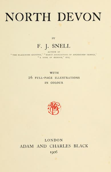 North Devon Painted and Described - Title Page (1906)