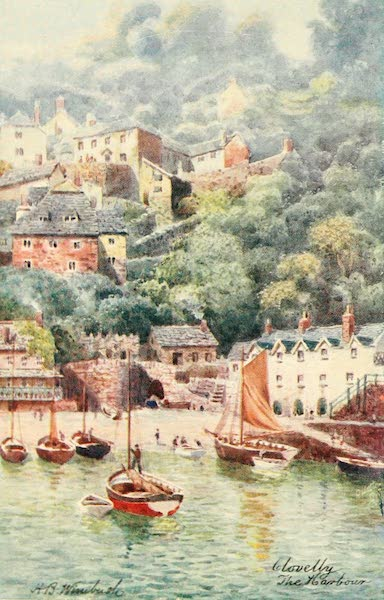 North Devon Painted and Described - The Harbour, Clovelly (1906)