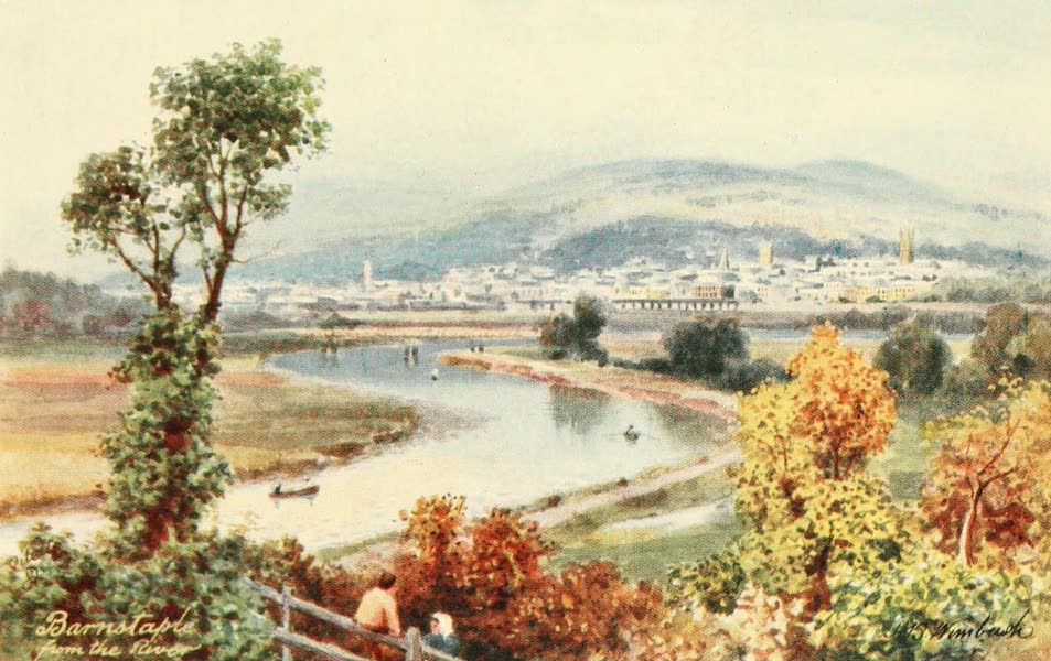 North Devon Painted and Described - Barnstaple from the River (1906)