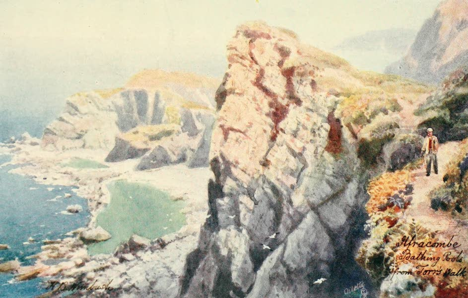 North Devon Painted and Described - Bathing Coves from Torrs Walk, Ilfracombe (1906)