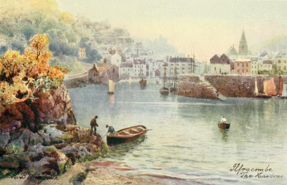 North Devon Painted and Described - The Harbour, Ilfracombe (1906)