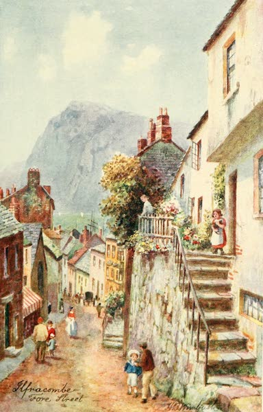North Devon Painted and Described - Fore Street, Ilfracombe (1906)