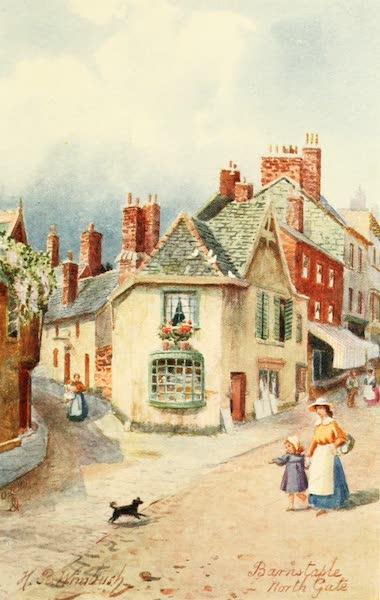 North Devon Painted and Described - North Gate, Barnstaple (1906)