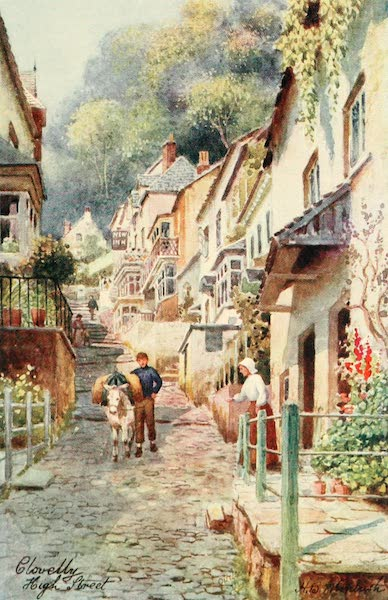 North Devon Painted and Described - High Street, Clovelly (1906)