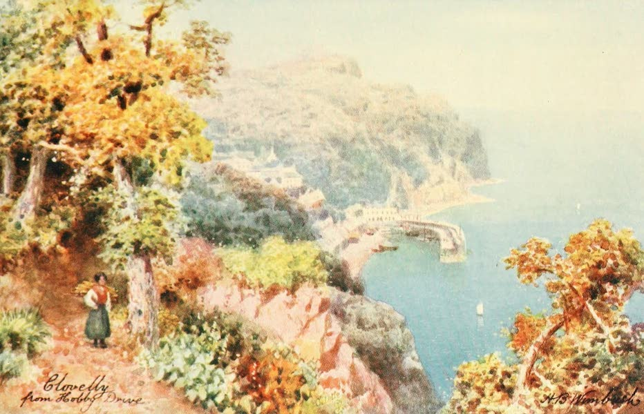 North Devon Painted and Described - Clovelly from Hobby Drive (1906)