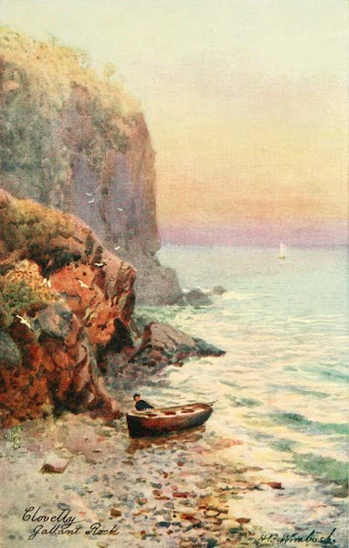 North Devon Painted and Described - Gallant Rock, Clovelly (1906)