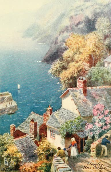 North Devon Painted and Described - Rose Cottage, Clovelly (1906)