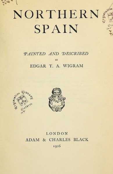 Northern Spain, Painted and Described - Title Page (1906)