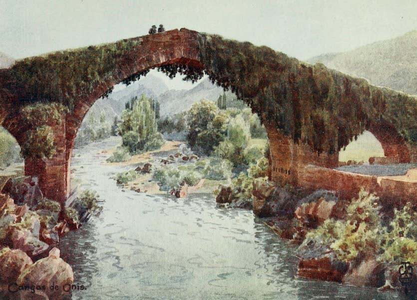 Northern Spain, Painted and Described - Cangas de Onis. The Bridge over the Sella (1906)