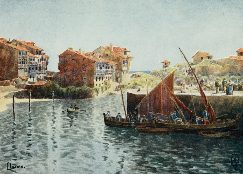Northern Spain, Painted and Described - Llanes. The Harbour (1906)