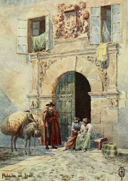 Northern Spain, Painted and Described - Leon. An Old Palace Doorway (1906)