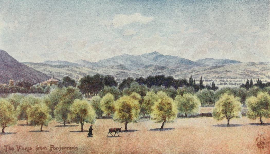 Northern Spain, Painted and Described - The Vierzo. From Ponferrada. looking towards the Pass of Piedrafita (1906)