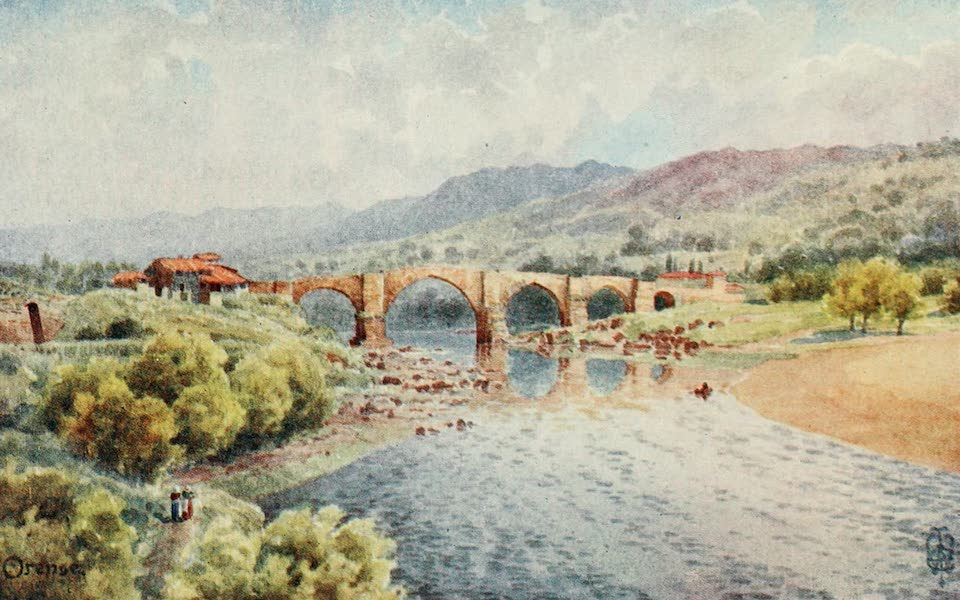 Northern Spain, Painted and Described - Orense. The Bridge over the Mino (1906)