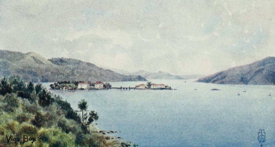 Northern Spain, Painted and Described - Vigo Bay. The Inner Harbour, looking out towards the Sea (1906)