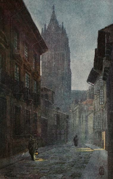 Northern Spain, Painted and Described - Oviedo. A Street near the Cathedral (1906)