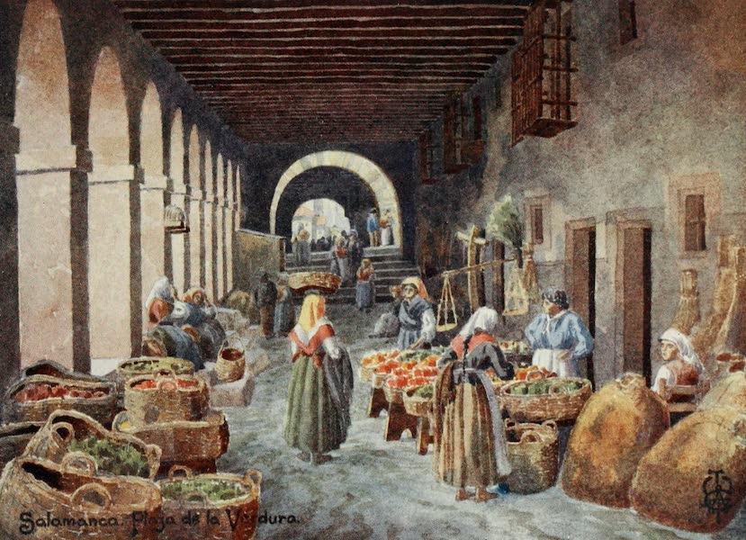 Northern Spain, Painted and Described - Salamanca. Arcades in the Plaza de la Verdura (1906)