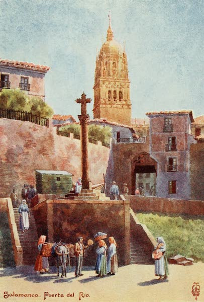 Northern Spain, Painted and Described - Salamanca. The Puei-ta del Rio, with the Cathedral Tower (1906)