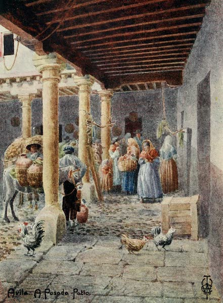 Northern Spain, Painted and Described - Avila. A Posada Patio (1906)