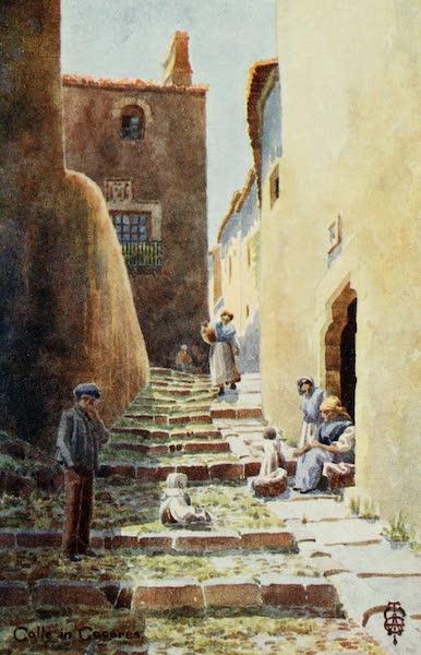 Northern Spain, Painted and Described - Caceres. Calle de la Cuesta de Aldana (1906)