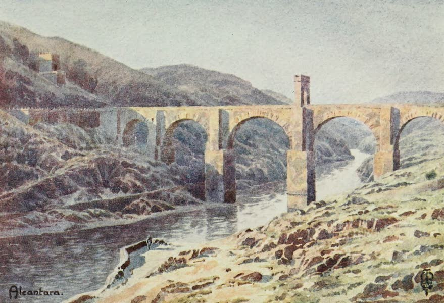 Northern Spain, Painted and Described - Alcantara (1906)