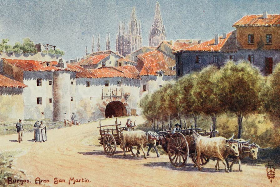 Northern Spain, Painted and Described - Burgos. Arco San Martin (1906)