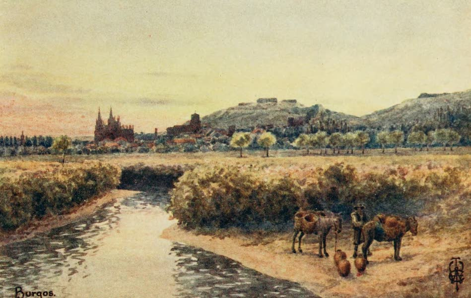 Northern Spain, Painted and Described - Burgos. From the East (1906)