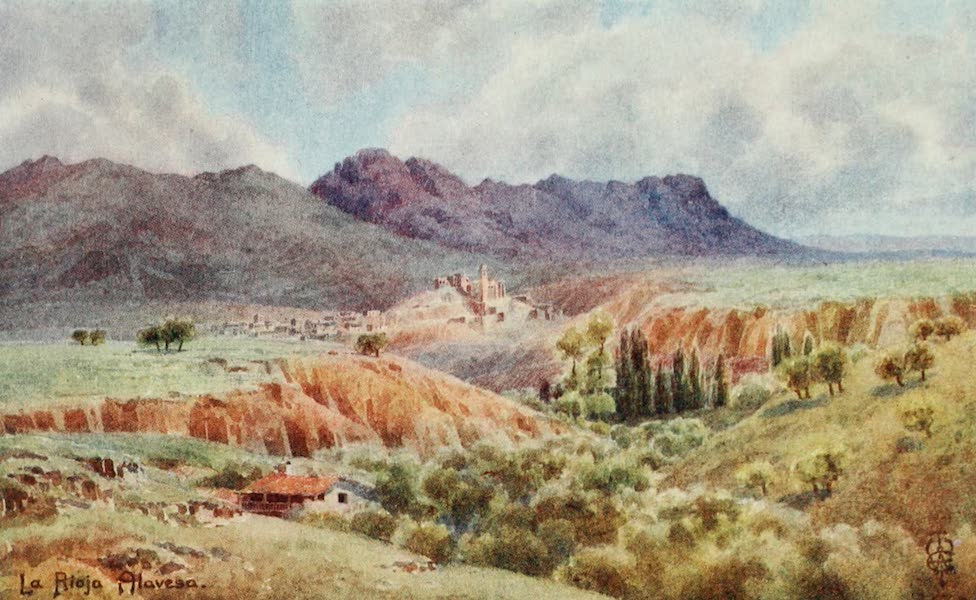 Northern Spain, Painted and Described - La Kioja Alavesa. Looking Northwards across the Ebro (1906)