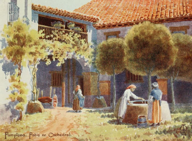 Northern Spain, Painted and Described - Pamplona. A Patio near the Cathedral (1906)