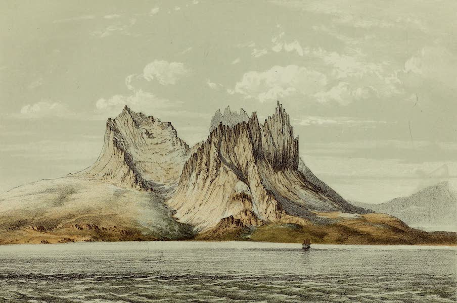 Norway and its Glaciers - Mountains near Folden Fiord (1853)
