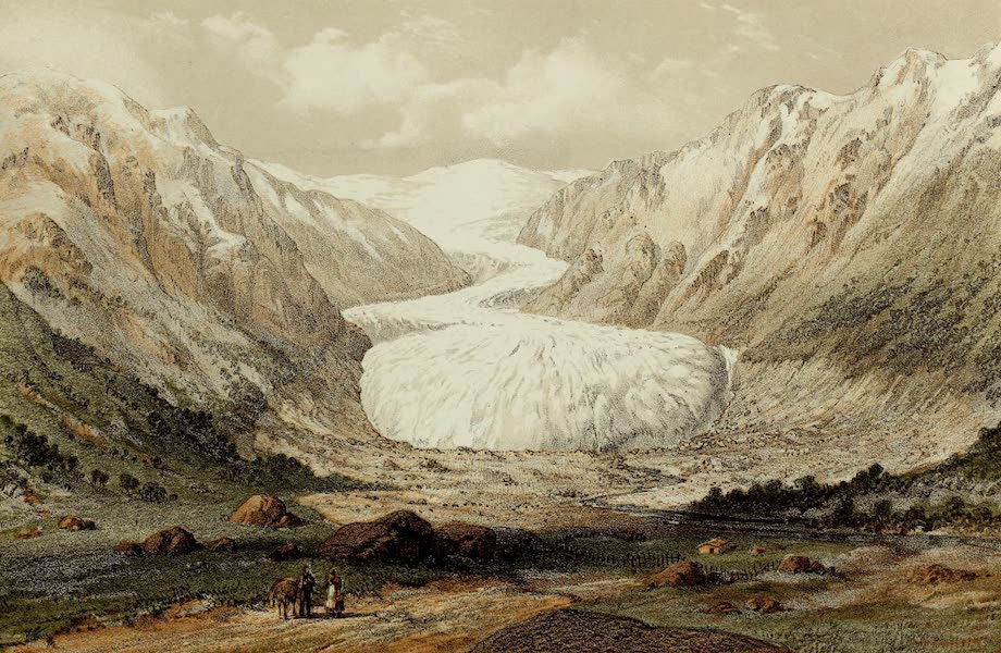 Norway and its Glaciers - Nygaard Glacer, Justedal (1853)