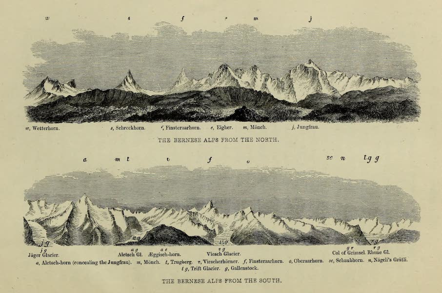 Norway and its Glaciers - The Bernese Alps from the North and South (1853)