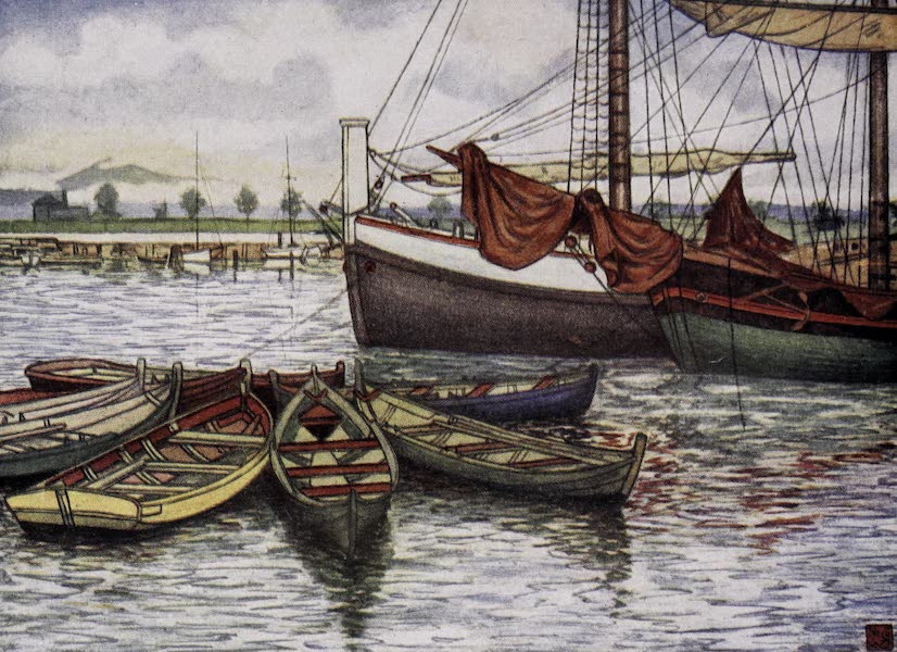 Norway, Painted and Described - Trondhjem - Old Boats (1905)