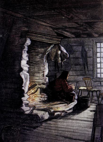Norway, Painted and Described - Making the Dinner - a Cottage Interior at Saelbo (1905)