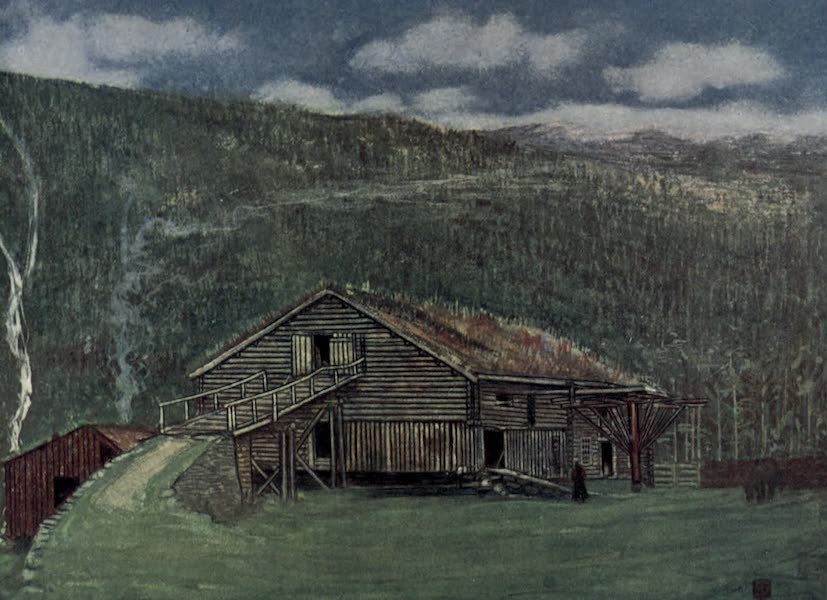 Norway, Painted and Described - Farm-house and Mill at Gjora (1905)