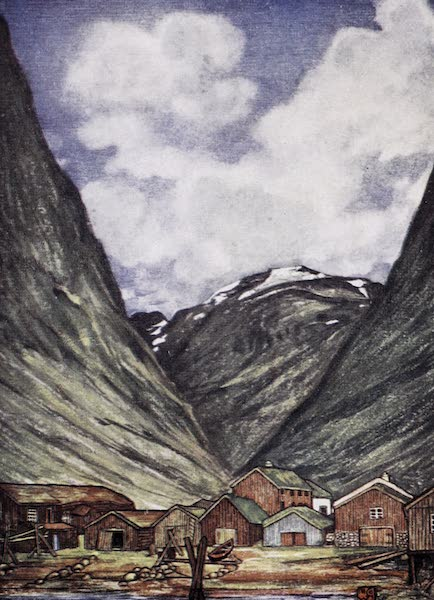 Norway, Painted and Described - Snow-capped Mountain at Sundalsoren (1905)