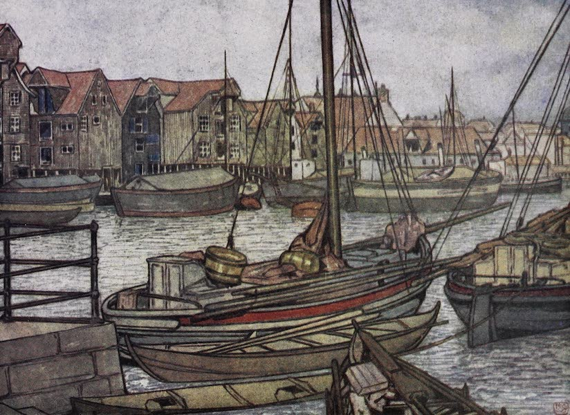 Norway, Painted and Described - Bergen Boats and Warehouses (1905)