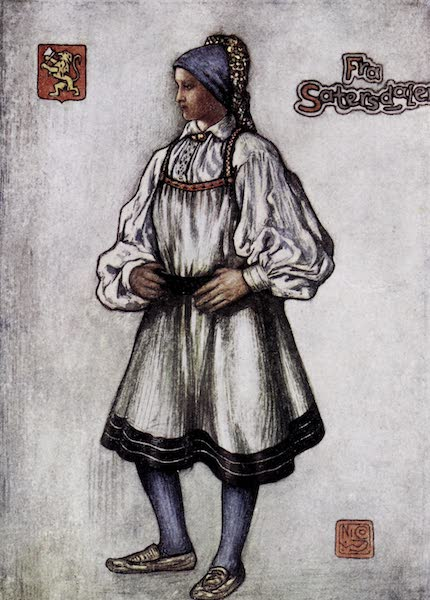 Norway, Painted and Described - Saetersdalen Peasant Girl (1905)