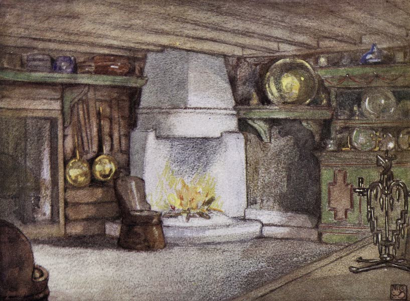 Norway, Painted and Described - A Cottage Interior, Telemarken (1905)