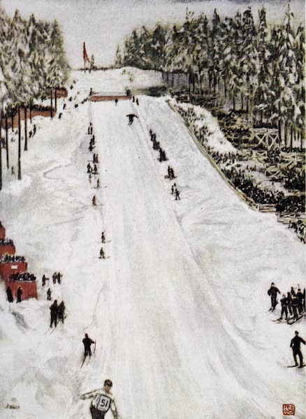 Norway, Painted and Described - Ski Sports—the Great Holmencollen Day outside Christiania (1905)