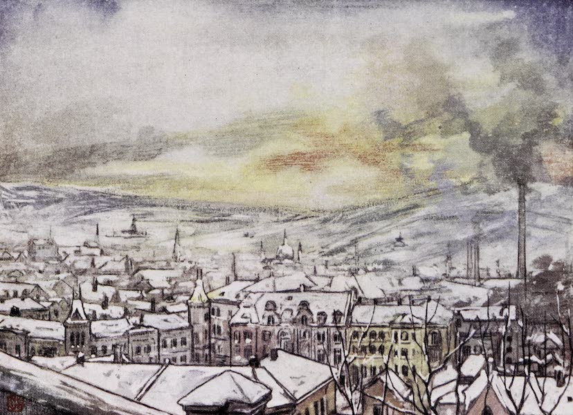 Norway, Painted and Described - Bird's-eye View of Christiania (1905)