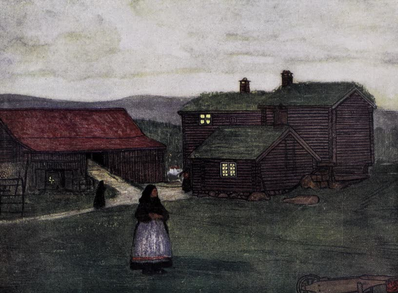 Norway, Painted and Described - Farm-houses built of Poles (1905)