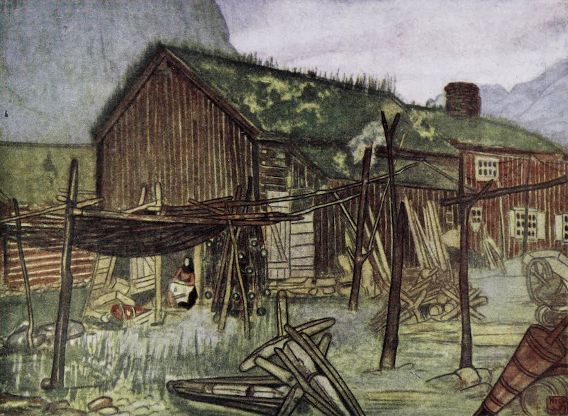 Norway, Painted and Described - Fishing-nets at Sundalsoren (1905)